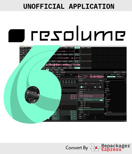 Resolume Arena version 6 - Repackager Express